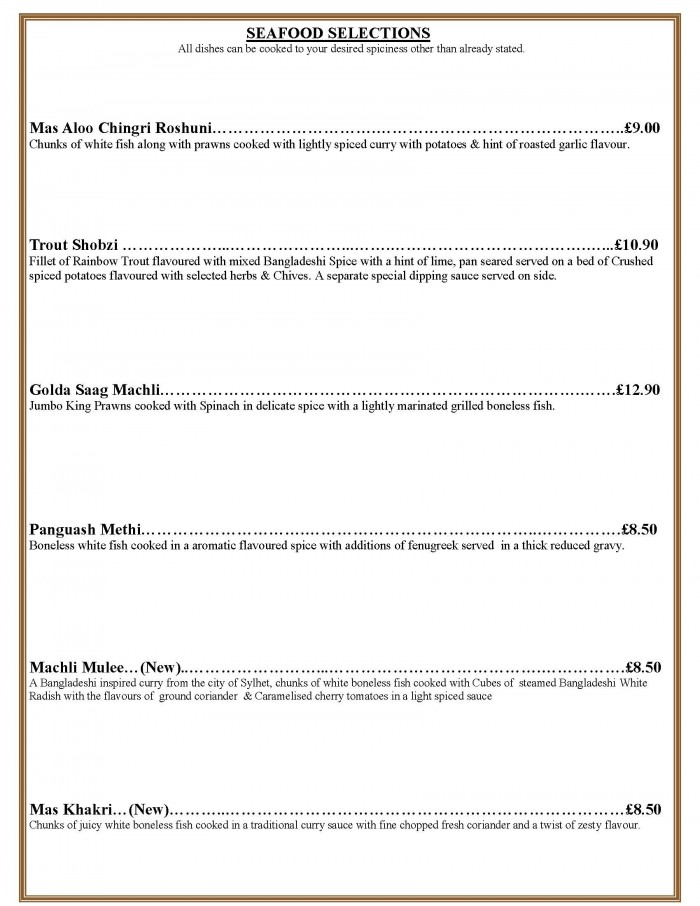 takeaway menu page 4 seafood 2018