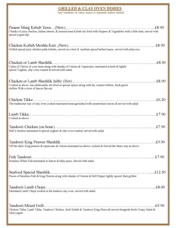 takeaway menu page 5 grilled specials 2018