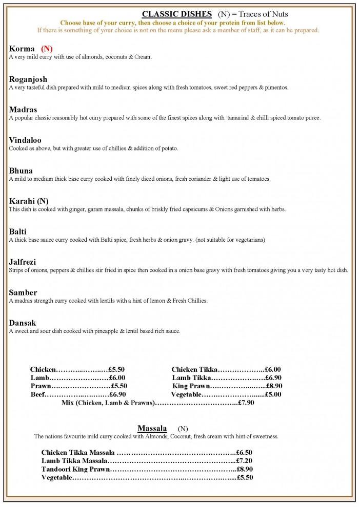 takeaway menu page 6 classics